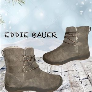 Eddie Bauer winter W/ fur lined tan ankle boot